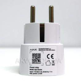 Ajax Socket Радиоуправляемая розетка со счетчиком энергопотребления белая - Фото№4