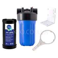 Магистральный фильтр AKVO Big Blue 10 с картриджем снижения солесодержания