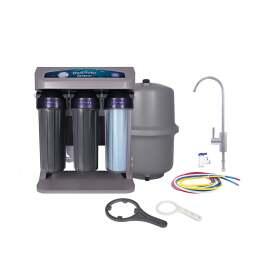 Aquafilter RO ELITE 7G-GP Система обратного осмоса с манометром и помпой в сером корпусе  - Фото№5