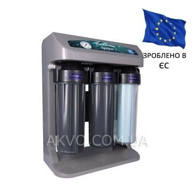 Aquafilter RO ELITE 7G-GP Система обратного осмоса с манометром и помпой в сером корпусе - Фото№1