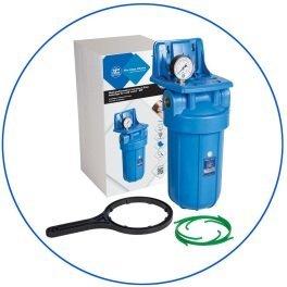 """BigBlue 10"""" Aquafilter FH10B1-B-WB магистральный фильтр-комплект (новый дизайн) - Фото№6"""