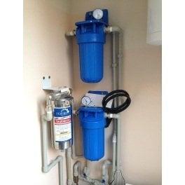 """BigBlue 10"""" Aquafilter FH10B1-B-WB магистральный фильтр-комплект (новый дизайн) - Фото№5"""