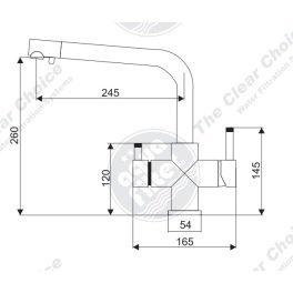 FXFCH13-4-C Aquafilter Кран (смеситель)- для кухни четырехпозиционный  - Фото№3