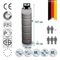 Компактный фильтр обезжелезивания и умягчения воды Bluefilters Apollo L Multi