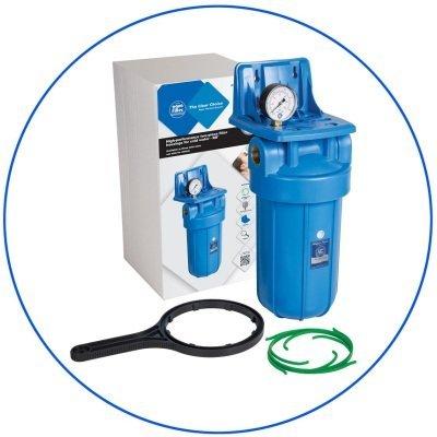 """BigBlue 10"""" Aquafilter FH10B1-B-WB магистральный фильтр-комплект (новый дизайн)- Фото№1"""