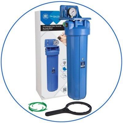 """BigBlue 20 """"Aquafilter FH20B1-B-WB магістральний фільтр-комплект- Фото№1"""