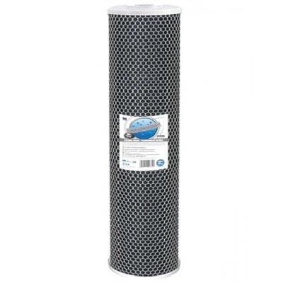 """Картридж Aquafilter FCCBL20BB-из спеченного угля, размер 20"""" BigBlue - Фото№1"""