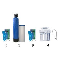 """Готовое решение система умягчения воды для коттеджа - """"Стандарт"""""""