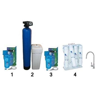 Готове рішення система пом'якшення, знезалізнення, видалення органіки, сірководню - 6-в-1 - для котеджу- Фото№1