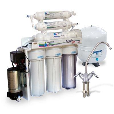 Обратный осмос Leader Filter Standart RO-6 PMT18- с минерализатором и помпой- Фото№1