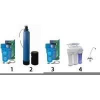 Готовое решение система умягчения, обезжелезивания, удаление органики- 5-в-1 - для коттеджа