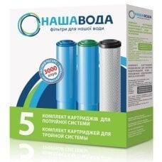Комплект картриджей НАША ВОДА №5 для фильтра Родниковая Вода
