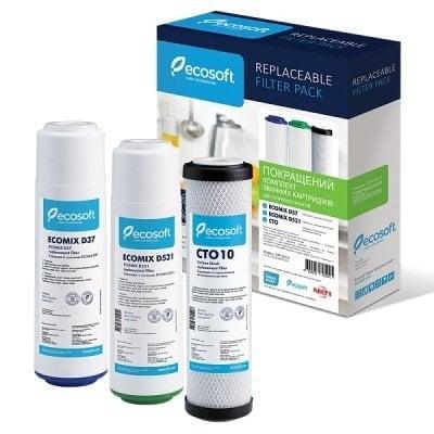 Комплект картриджей для тройных фильтров Ecosoft улучшенный- Фото№1