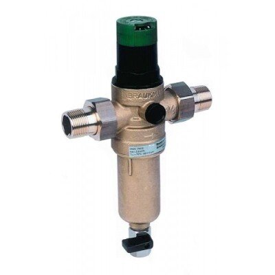 HONEYWELL Mini Plus FK06 1/2AAМ сетчатый самопромывной фильтр механической очистки с редуктором для горячей воды- Фото№1
