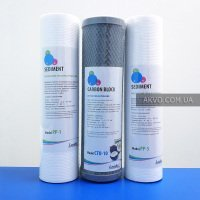 Комплект картриджей Leader 1-2-3 с кокосовым углем для предварительной очистки воды