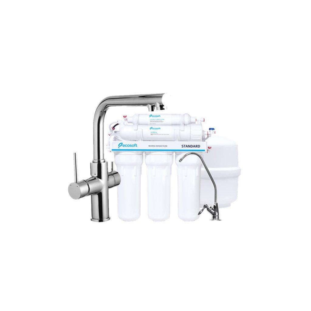 Смеситель кухонный IMPRESE Daicy с 5-ти ступенчатой системой обратного осмоса Ecosoft Standart (55009-F+MO550ECOSTD)