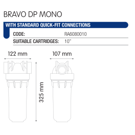 "Atlas Filtri BRAVO DP MONO 10"" (RA6080010) одноступенчатый фильтр - Фото№3"