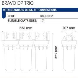 "Atlas Filtri BRAVO DP TRIO 10"" (RA6080320) трёхступенчатый фильтр - Фото№4"