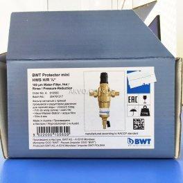BWT Protector mini H / R HWS 1 / 2˝ Самопромивні фільтр з редуктором тиску для гарячої води - Фото№6