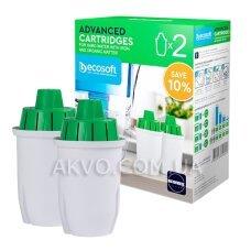 Ecosoft Комплект улучшенных сменных картриджей к фильтрам-кувшинам 2 шт.