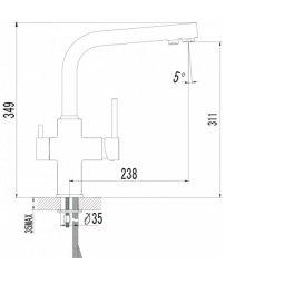 IMPRESE DAICY 55009-F змішувач кухонний з підключенням до фільтру - Фото№3