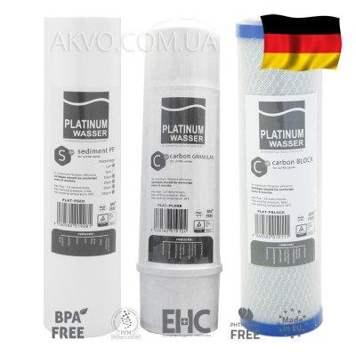 Комплект посилених картриджів для фільтра зворотного осмосу Platinum Wasser- Фото№1