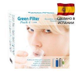 Комплект картриджів до фільтру зворотного осмосу Green Filter Pack 4 - Фото№4