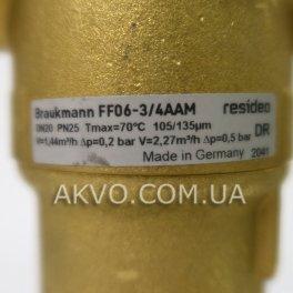 Resideo Braukmann (Honeywell) FF06-3 / 4AAM cітчастий промивний фільтр для гарячої води - Фото№3