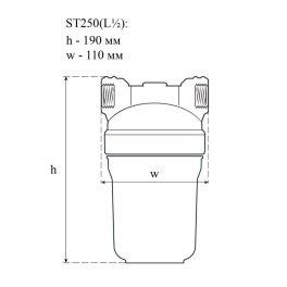 СВОД АС st250(Pro) Фильтр от накипи для теплотехники с латунной резьбой (L1/2) и Экспресс-очистка СВОД-ТВН - Фото№6