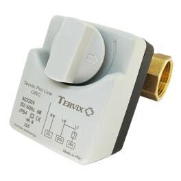 """Tervix Pro Line ORC 2-ходовий кульовий клапан н/з 1 1/4"""" DN32 з електроприводом - Фото№2"""